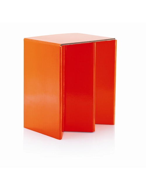 Karton Faltstuhl orange